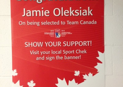 Jamie Oleksiak Poster - Chesswood Arena